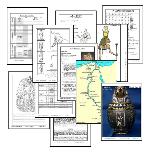 History Helper - Ancient Egypt - Important Areas
