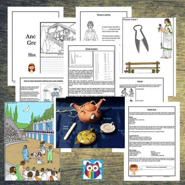History Helper - Ancient Greece - People's Lives:Primary Classroom Resources