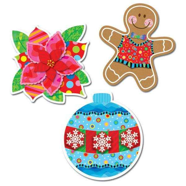 "Holiday Cheer 10"" Designer Cut Outs:Primary Classroom Resources"