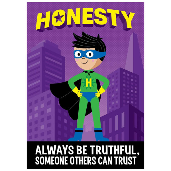 Honesty - Superhero Inspire U Poster:Primary Classroom Resources