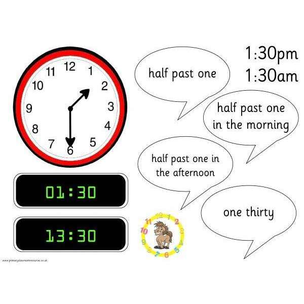 Hugo's Half Past Posters:Primary Classroom Resources