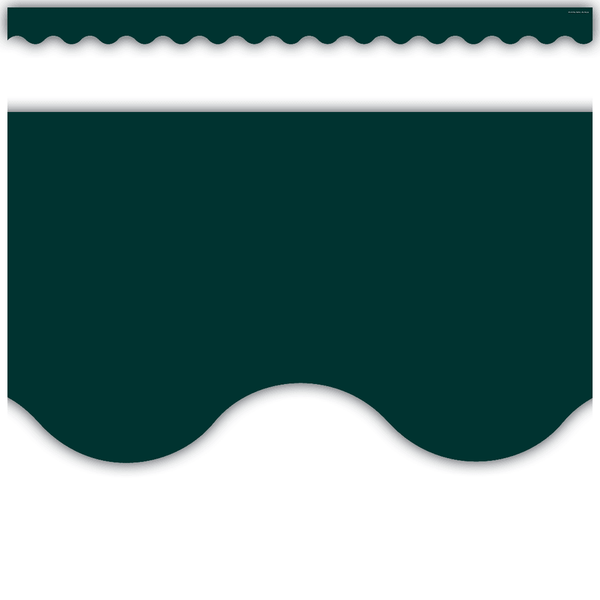 Hunter Green Scalloped Classroom Display Border:Primary Classroom Resources