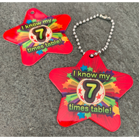 I Know My 7 Times Table BragTags Classroom Rewards:Primary Classroom Resources