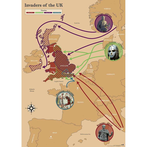 Invaders of the UK Map