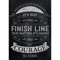 It's not the finish line... Inspire U Poster