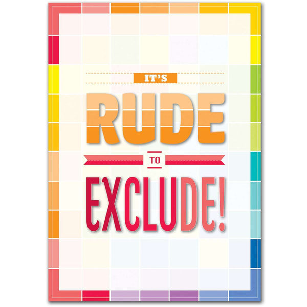 It's Rude to Exclude! Inspire U Poster:Primary Classroom Resources