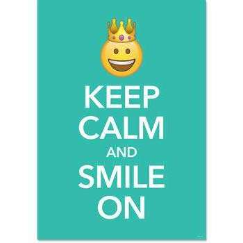 Keep Calm and Smile On - Emoji Fun Inspire U Poster:Primary Classroom Resources