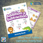 Learn About Addition & Subtraction Activity Book:Primary Classroom Resources