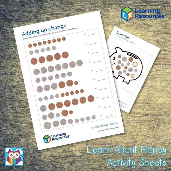 Learn About Money Activity Sheets:Primary Classroom Resources