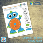Learn to Tell Time Activity Sheet:Primary Classroom Resources