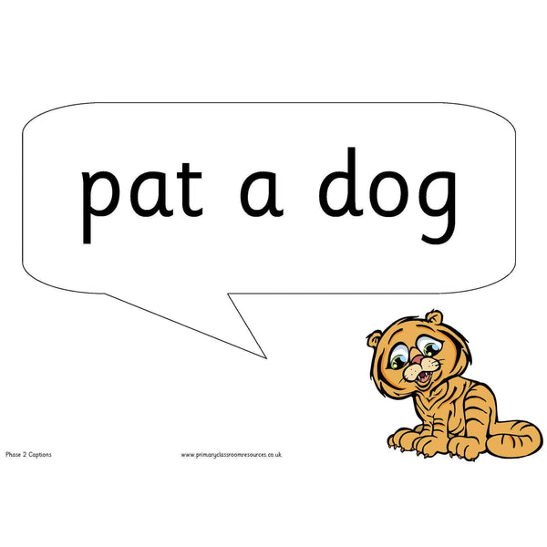 Letters and Sounds Phase 2 Character Captions:Primary Classroom Resources