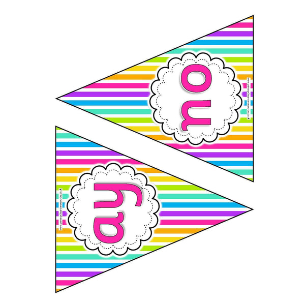 Letters and Sounds Phase 5 Bunting - Rainbow:Primary Classroom Resources