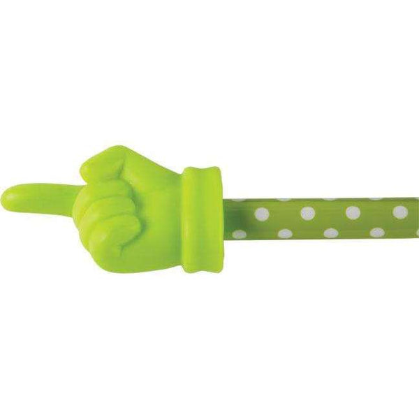 Lime Polka Dot Hand Pointer