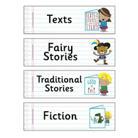 Literary Genres Flashcards:Primary Classroom Resources