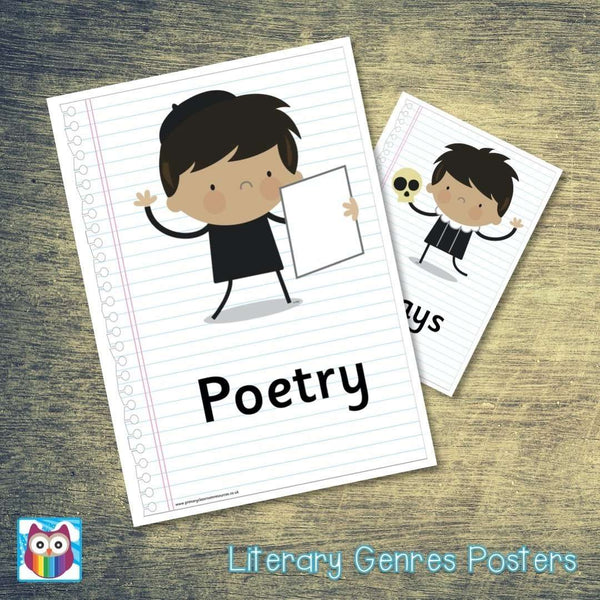 Literary Genres Posters:Primary Classroom Resources