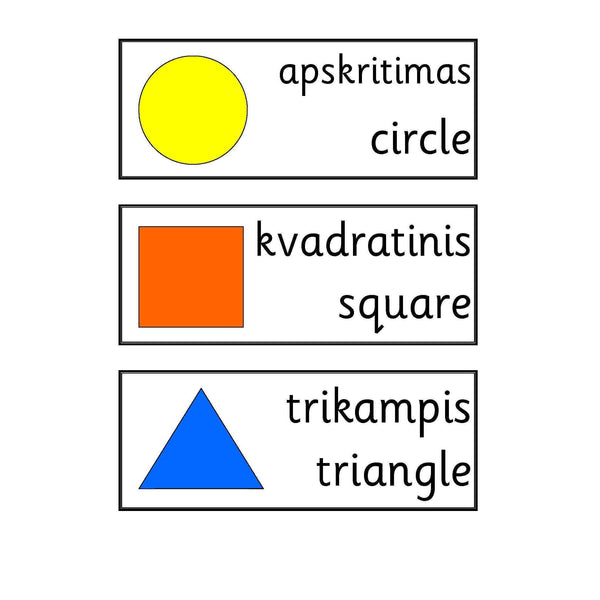 Lithuanian Shape Vocab