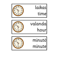 Lithuanian Time Vocab:Primary Classroom Resources