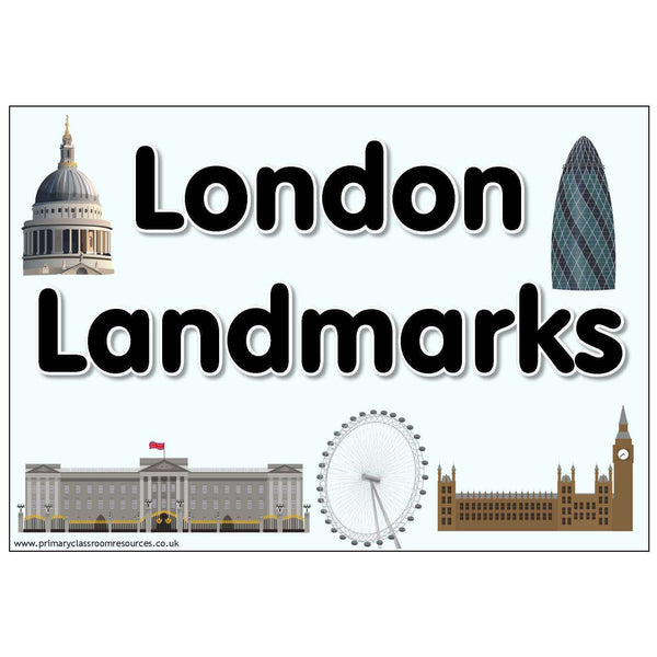 London Landmarks Display Pack:Primary Classroom Resources