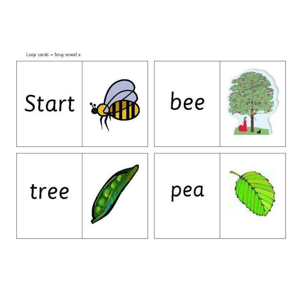 Long Vowel E Loop Cards:Primary Classroom Resources