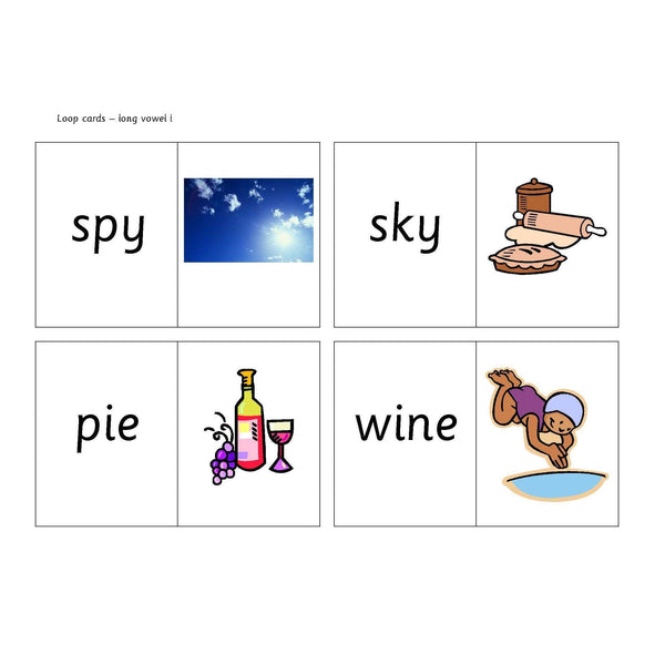 Long Vowel I Loop Cards:Primary Classroom Resources