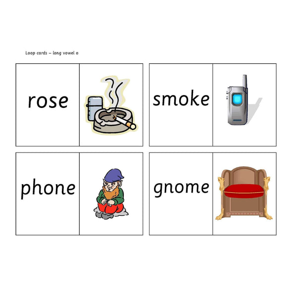 Long Vowel O Loop Cards:Primary Classroom Resources