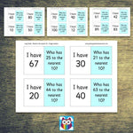 Loop Cards - Rounding to the nearest 10 (2 digit numbers):Primary Classroom Resources