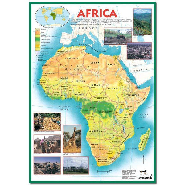 Map of Africa Poster:Primary Classroom Resources