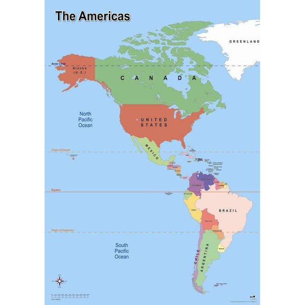 Map of the Americas:Primary Classroom Resources