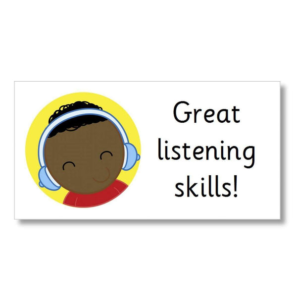 Marking Stickers - Great listening skills:Primary Classroom Resources