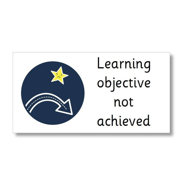 Marking Stickers - Learning objective not achieved