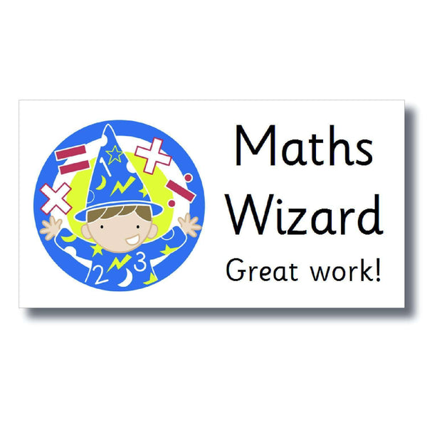 Marking Stickers - Maths Wizard:Primary Classroom Resources