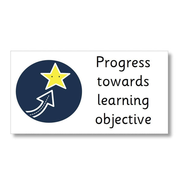 Marking Stickers - Progress towards learning objective