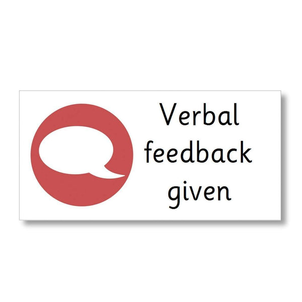 Marking Stickers - Verbal feedback given