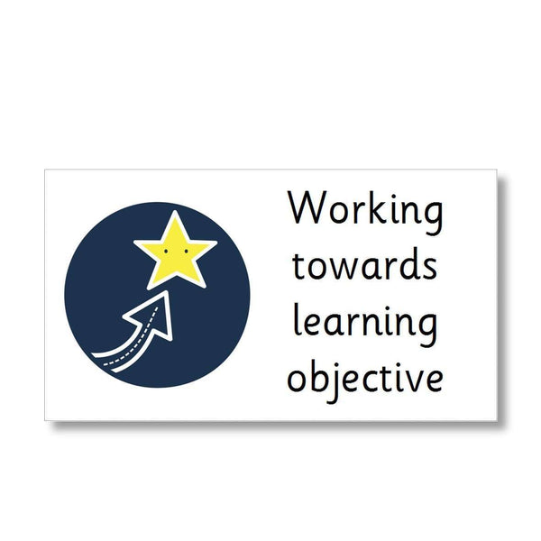 Marking Stickers - Working towards learning objective
