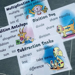Maths Operation Vocabulary Posters:Primary Classroom Resources