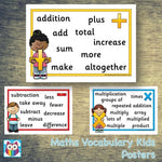 Maths Vocabulary Kids Posters:Primary Classroom Resources