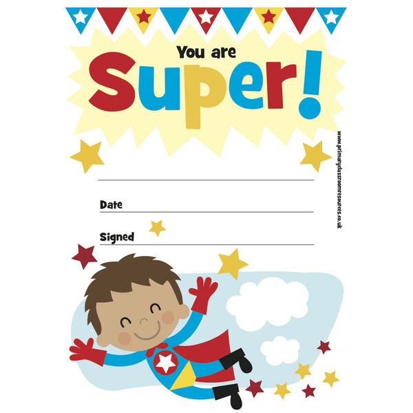 Mini Certificates Pad - Super 2
