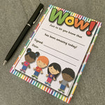 Mini Reward Certificates Wow! Pad:Primary Classroom Resources