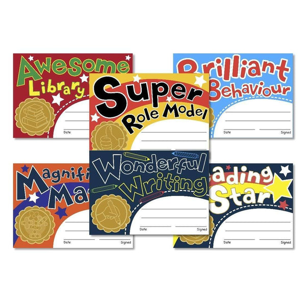 Mixed Pack of Classroom Reward Certificates - Bulk buy 50 Packs:Primary Classroom Resources