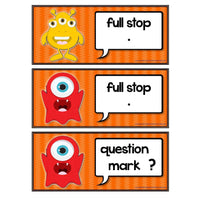 Monster Punctuation:Primary Classroom Resources