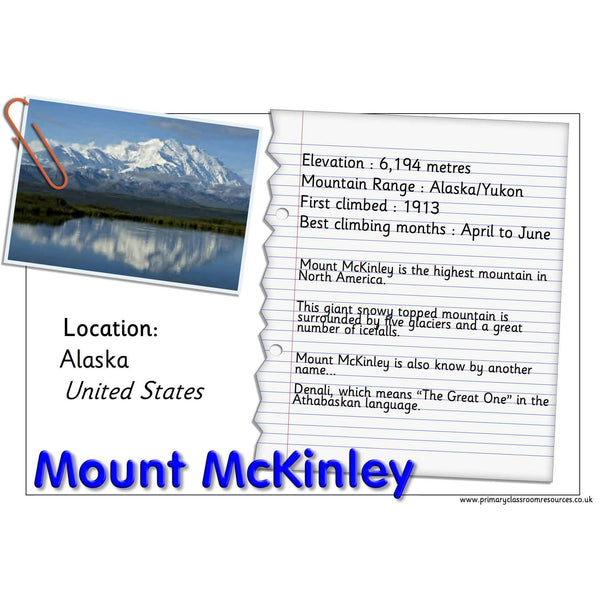 Mountains Seven Summits Pack:Primary Classroom Resources