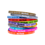 Multibandz - Maths Times Tables Wristbands - 30 Packs (Class Set):Primary Classroom Resources