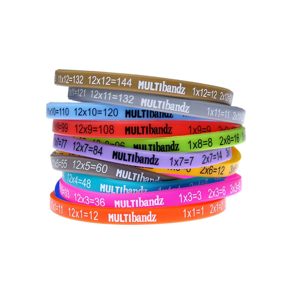 Multibandz Times Tables Learning Wristbands:Primary Classroom Resources
