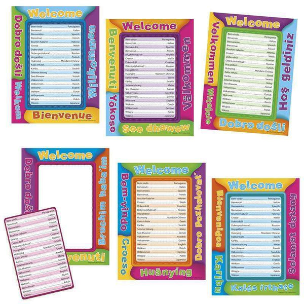 Multicultural Welcome Frame Accents:Primary Classroom Resources