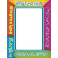 Multicultural Welcome Frame Accents