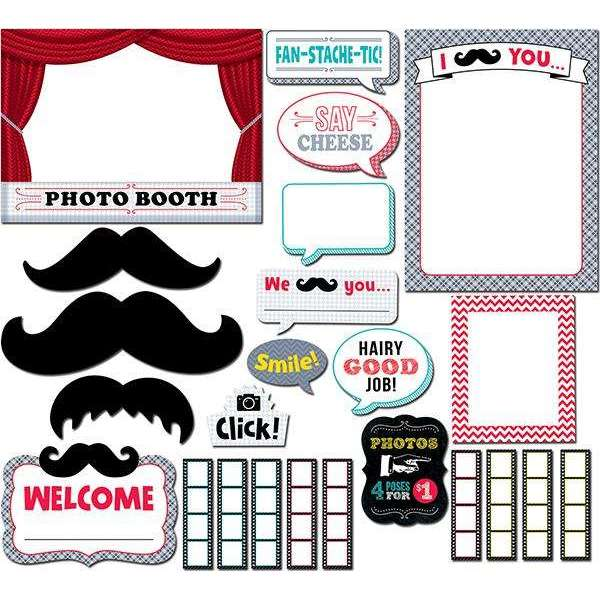 Mustache Mania Photo Booth Bulletin Board Set:Primary Classroom Resources