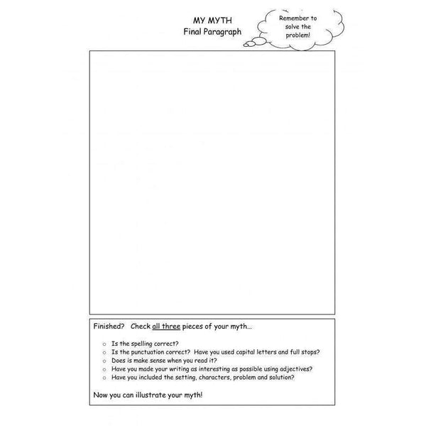 Myths Worksheets