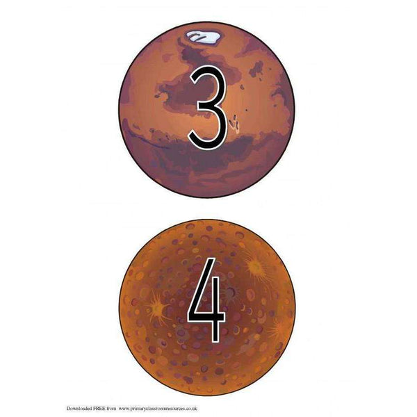 Numbers on Planets:Primary Classroom Resources