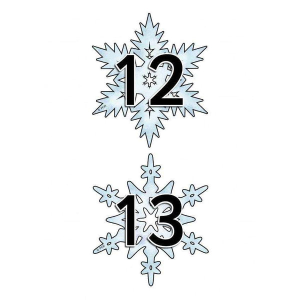 Numbers on Snowflakes 0 to 20:Primary Classroom Resources