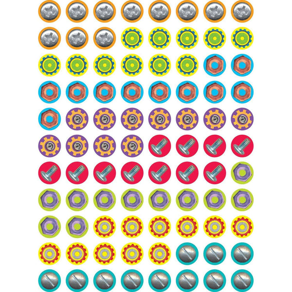 Nuts & Bolts Hot Spots Chart Seal Stickers